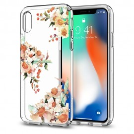 iPhone X Case Liquid Crystal Aquarelle Spigen