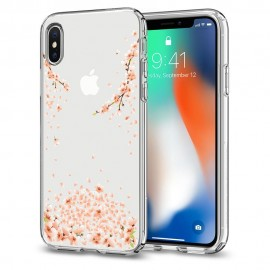iPhone X Case Liquid Crystal Blossom Crystal Clear Spigen