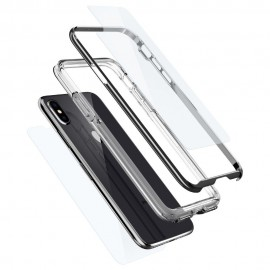 iPhone X Case Neo Hybrid EX Chrome (Protective Film Front 1+Back 1) Spigen