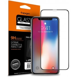 iPhone X Screen Protector Full Cover Glass Spigen