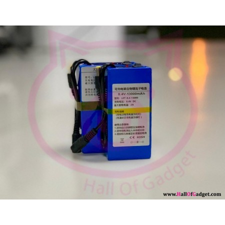 8.4v Battery Lithium Rechargeable for Lights